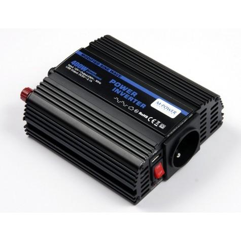 Przetwornica napięcia prądu 400W/800W 12V-230V z USB