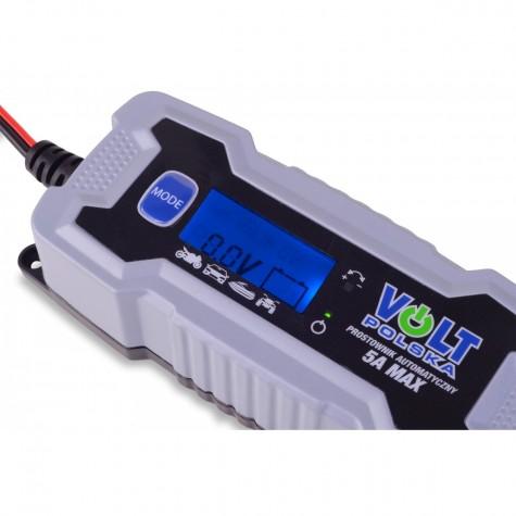 Ładowarka prostownik automatyczny VOLT 6/12V 5A LCD