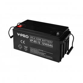 Akumulator żelowy AGM 12V pojemność 65Ah VPRO