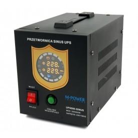 Zasilanie awaryjne pełny sinus 300/500W z UPS oraz ładowaniem (M-POWER)