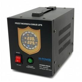 Zasilanie awaryjne pełny sinus 500/800W z UPS oraz ładowaniem (M-POWER)