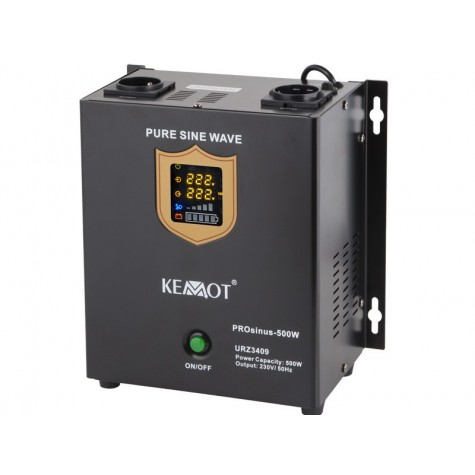 Zasilanie awaryjne pełny sinus 500/800W z UPS do pieca CO (PROsinus-300) montowane na ścianę