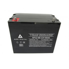 Akumulator żelowy AGM AP12-80 12V pojemność 80Ah VRLA