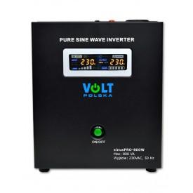 Zasilanie awaryjne sinusPRO-800W z UPS oraz ładowaniem (do powieszenia)