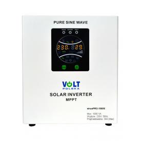 Zasilanie awaryjne UPS sinusPRO-1000S z wbud. regulatorem solarnym PWM/MPPT