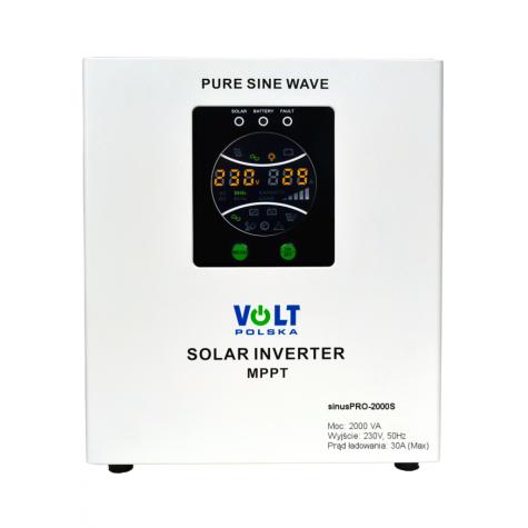 Zasilanie awaryjne UPS sinusPRO-2000S z wbud. regulatorem solarnym PWM/MPPT