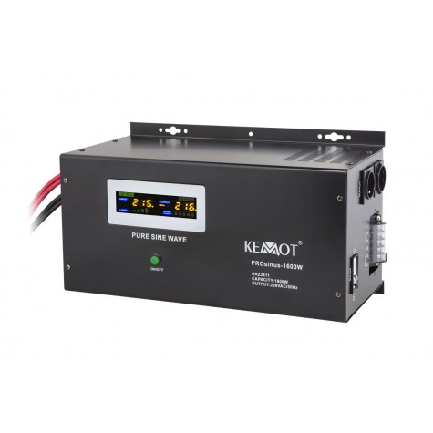 Zasilanie awaryjne pełny sinus 1600W/3000VA z UPS do pieca CO (PROsinus-1600) montowane na ścianę