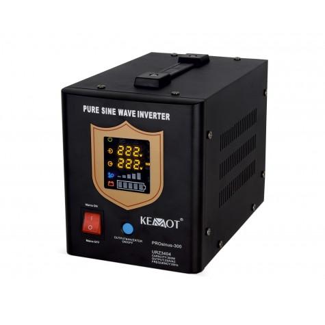 Zasilacz awaryjny do pieca sinus 300/500W z UPS oraz ładowaniem (KEMOT)