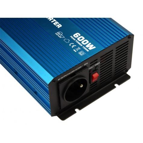 Przetwornica napięcia pełny sinus MP-P600 600/1200W 12V-230V